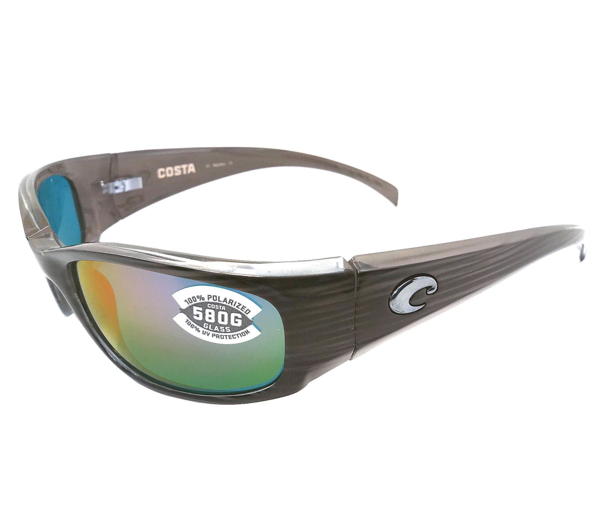 Costa Del Mar Hammerhead 580G Silver Teak  Green Mirror Polarized Sunglasses 7b6c1ddabeca
