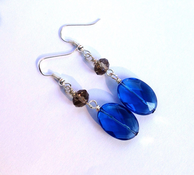 A personal favorite from my Etsy shop https://www.etsy.com/listing/242012605/blue-gems-dangle-earrings