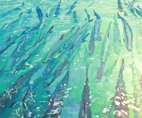 Gordie Hinds High And Happy Tarpon On Artstack Gordie Hinds
