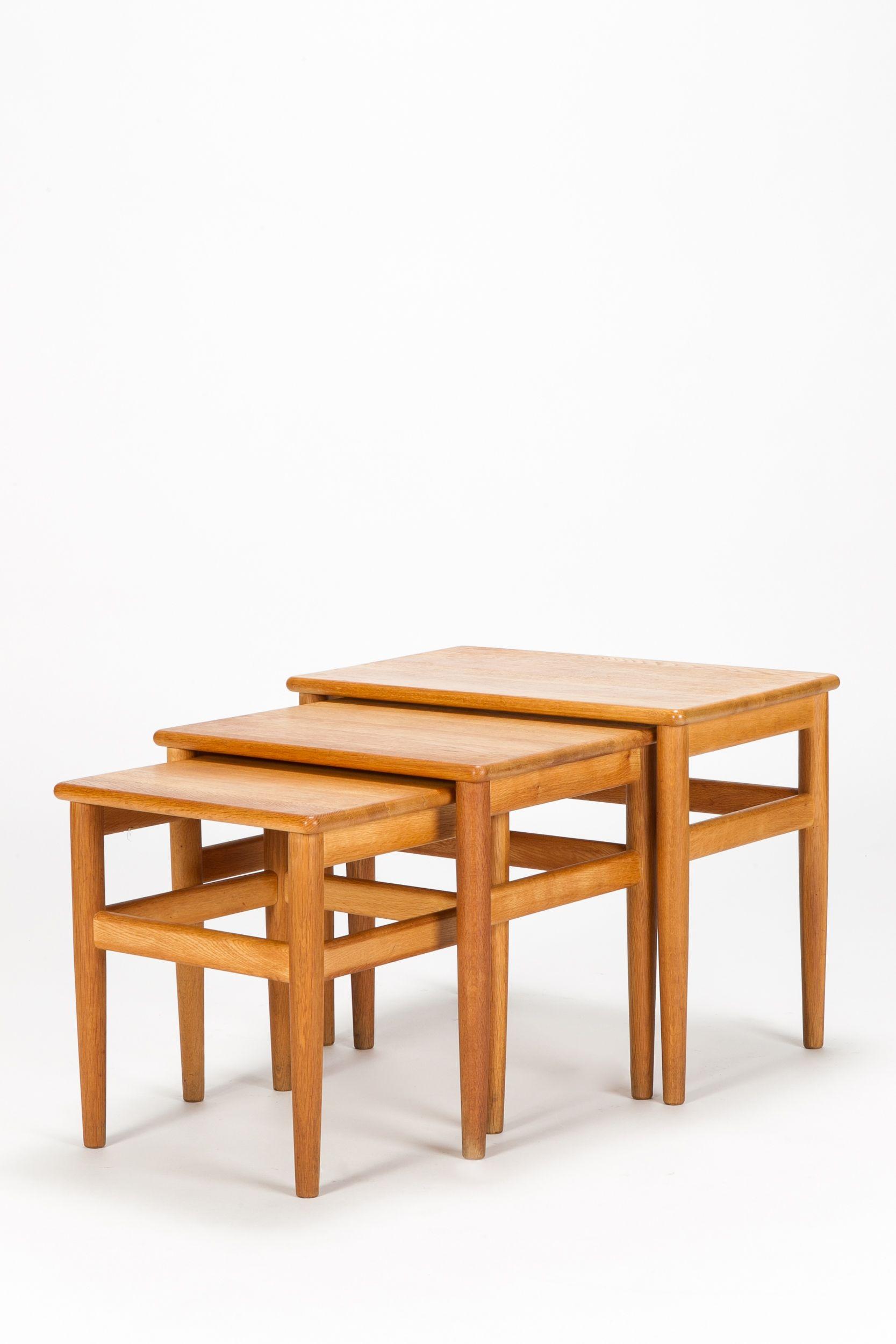 Danish Oak Nesting Tables Salin Nyborg