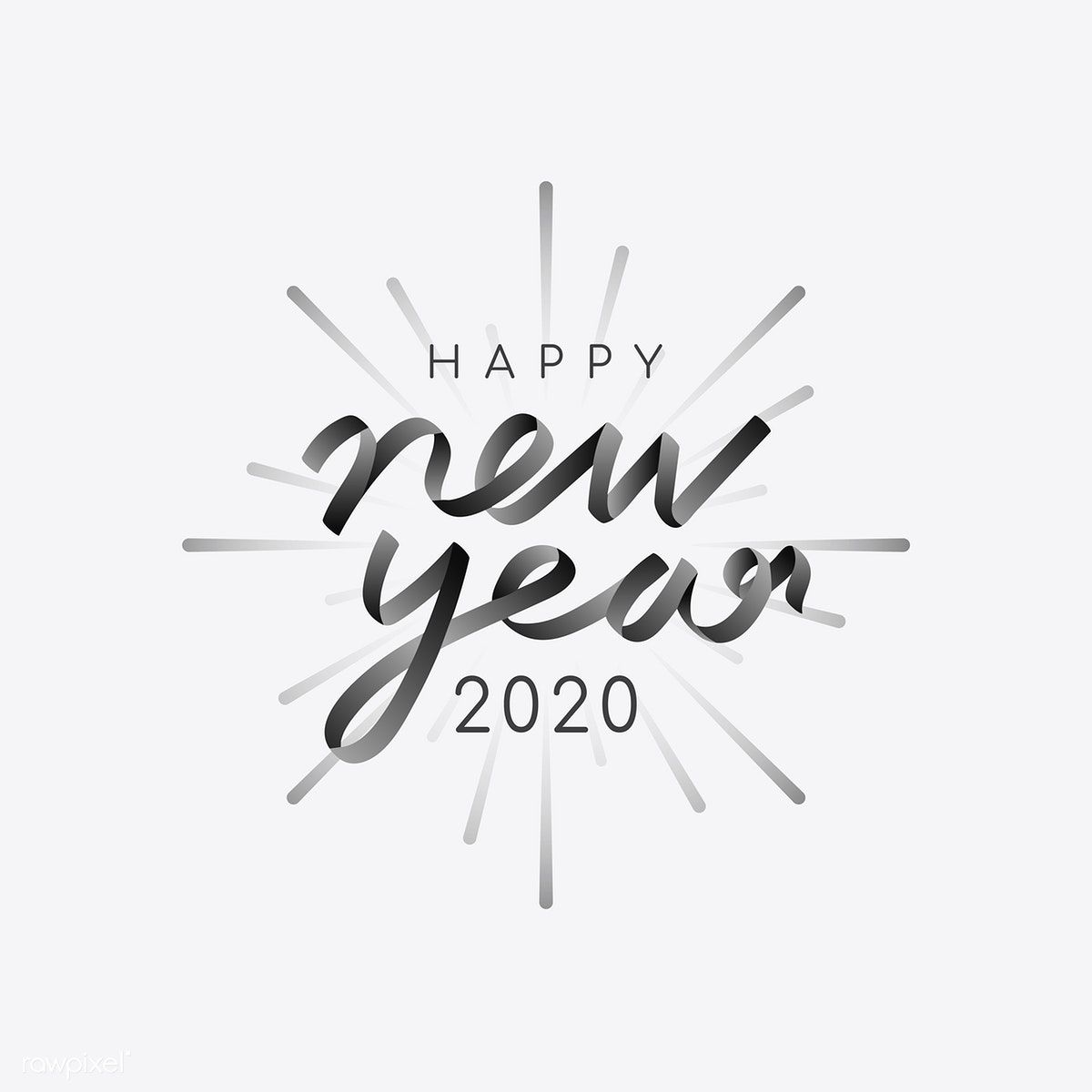 Download Premium Vector Of Happy New Year 2020 Vector 1234485 Happy New Year 2020 Typography 2020 Typography Happy New Year Images