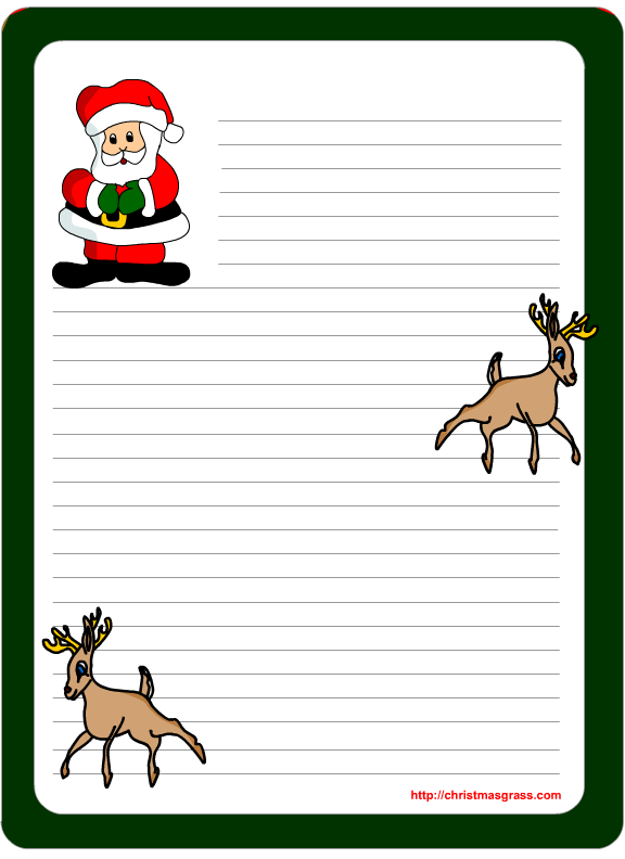 Perfect And Printable For Your Letters To Or From Santa Santa