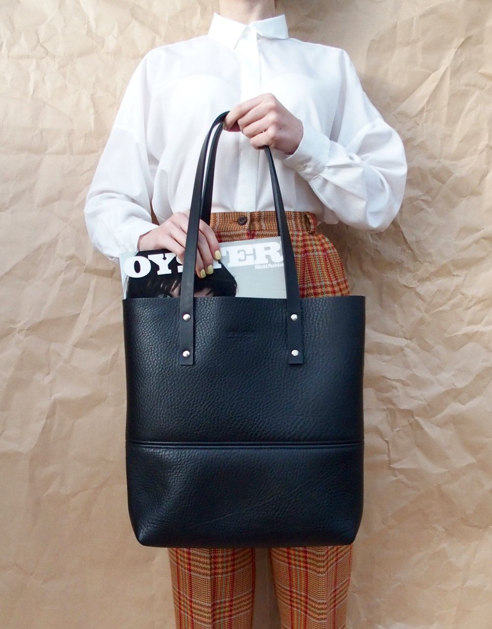 Black Leather Tote Bag Hand Crafted In Australia Tote Leather Bag Handmade Made In Austral Black Leather Tote Bag Leather Tote Bag Black Leather Tote