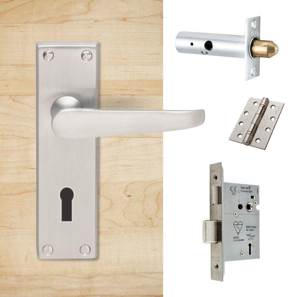 External M30 Victorian Suite Lever Back Door Handle Pack Chrome Finish Door Handles Door Furniture External Door Handles