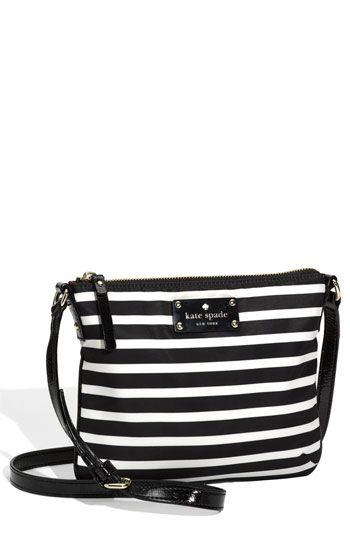 perfect for summer kate spade new york 'stripe nylon tenley' crossbody bag   Nordstrom