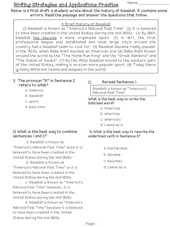 Printables Editing And Revising Worksheets revising worksheets versaldobip paragraph correction 4th grade editing