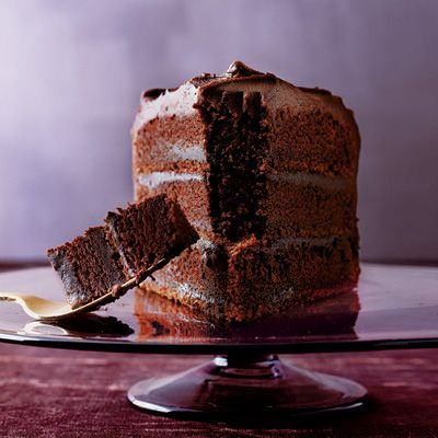 ThreeLayer Chocolate Cake with Blackout Filling Recipe Layered
