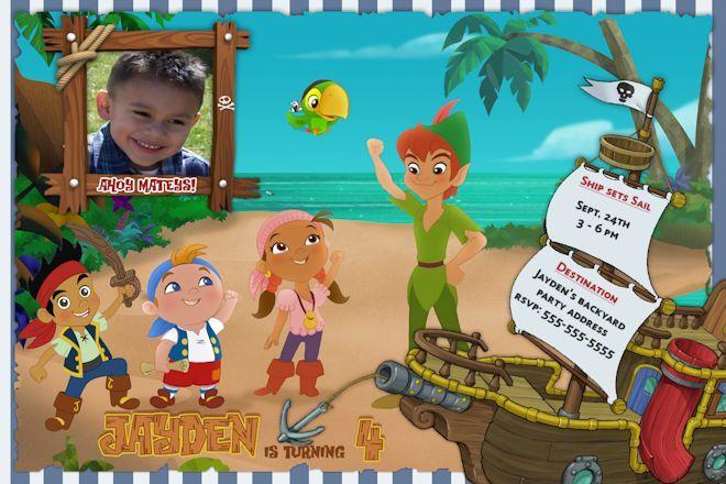 Jake And The Neverland Pirates Birthday Invitations 4