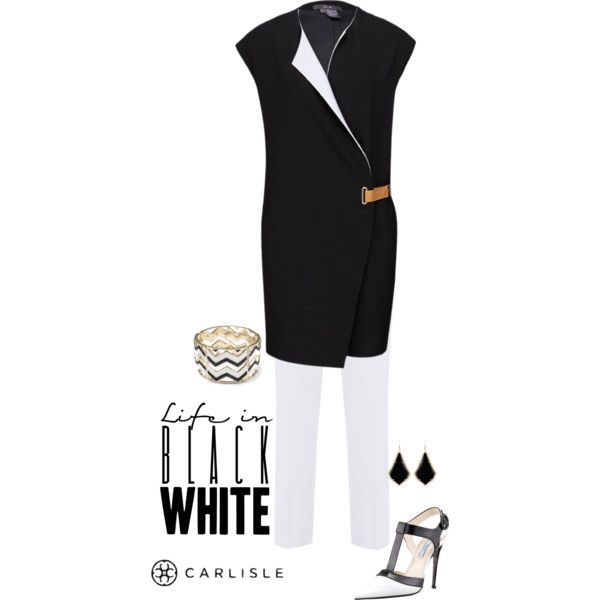 """Carlisle: Summer in Black & White"" by carlislecollection on Polyvore"