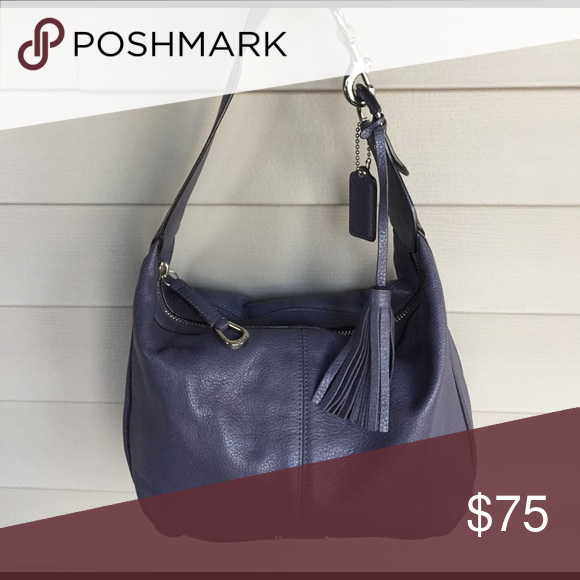 Coach Leather Hobo Bag Beautiful Dark Lavender Medium Size Measures 11 Wide 81 2 High Handle Drop Roximately 71