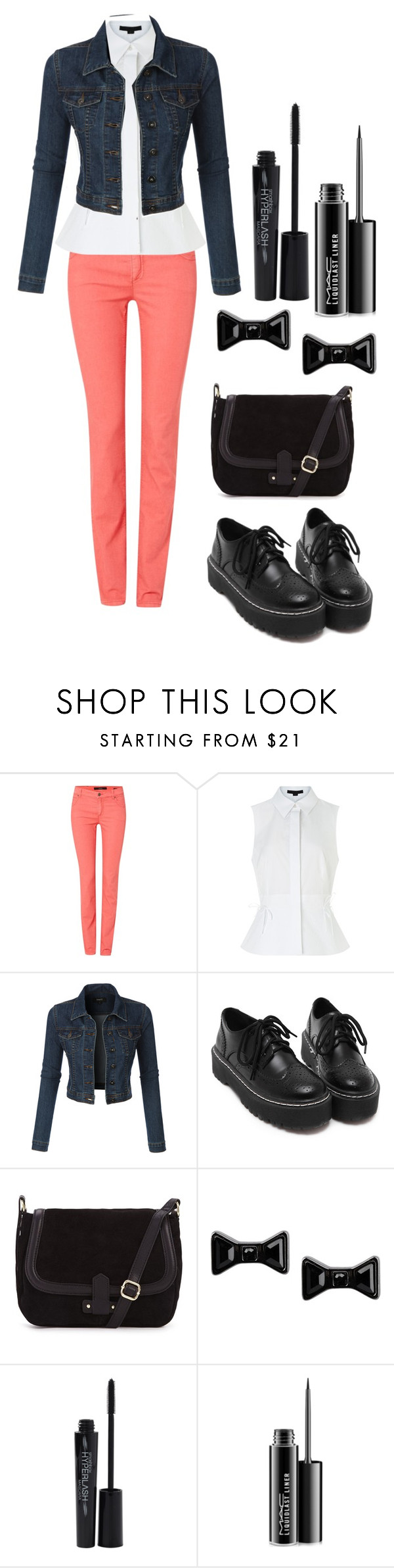 """""""Untitled #392"""" by fairytale-reality ❤ liked on Polyvore featuring Oui, Alexander Wang, LE3NO, Marc by Marc Jacobs, Smashbox, MAC Cosmetics, women's clothing, women's fashion, women and female"""