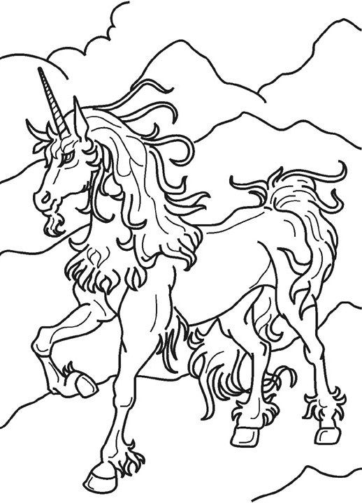 Unicorn Magical Horse Coloring Pages