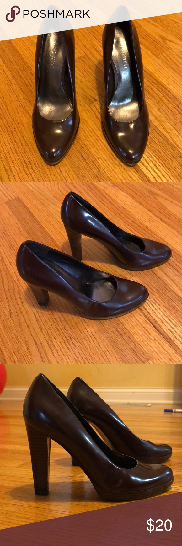 c5f278f86f3c Women s Nine West heels Women s size 5 Nine West brown shoes with 4 inch  heel.