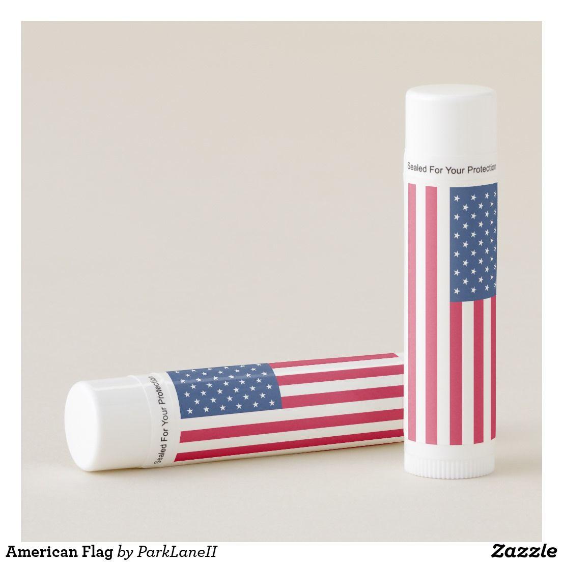 American Flag Lip Balm Americangirl American Flag Lipbalm Usa Usflag Starsandstripes Newparklane Zazzle Patrioticgi The Balm Lip Balm Patriotic Lips