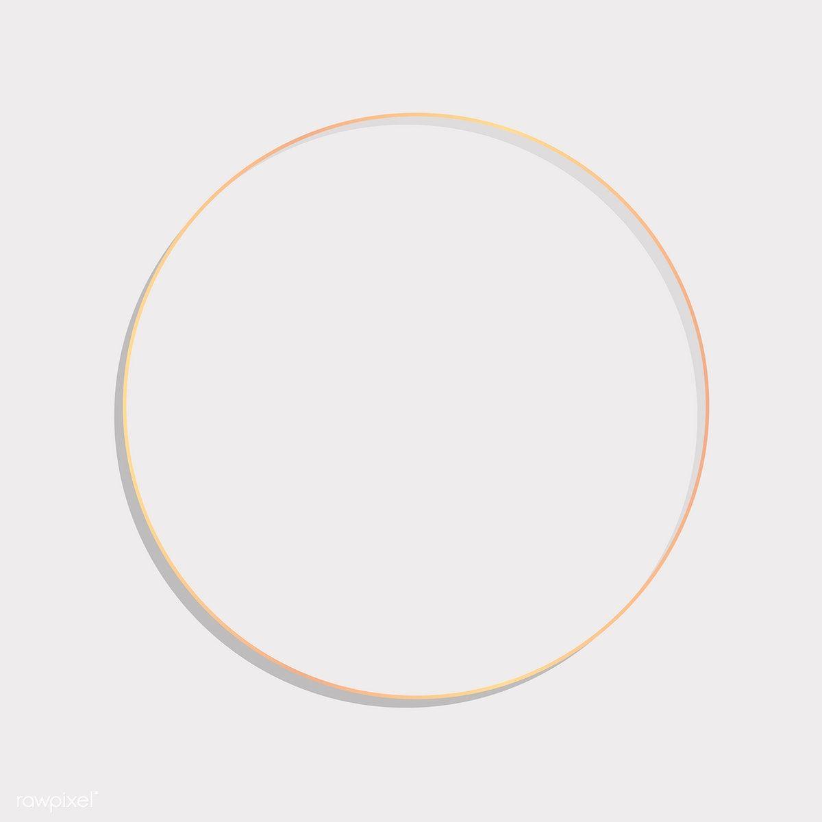 Download Premium Vector Of Circle Round Frame On A Blank Background Vector Blank Background Frame Design Circle Frames