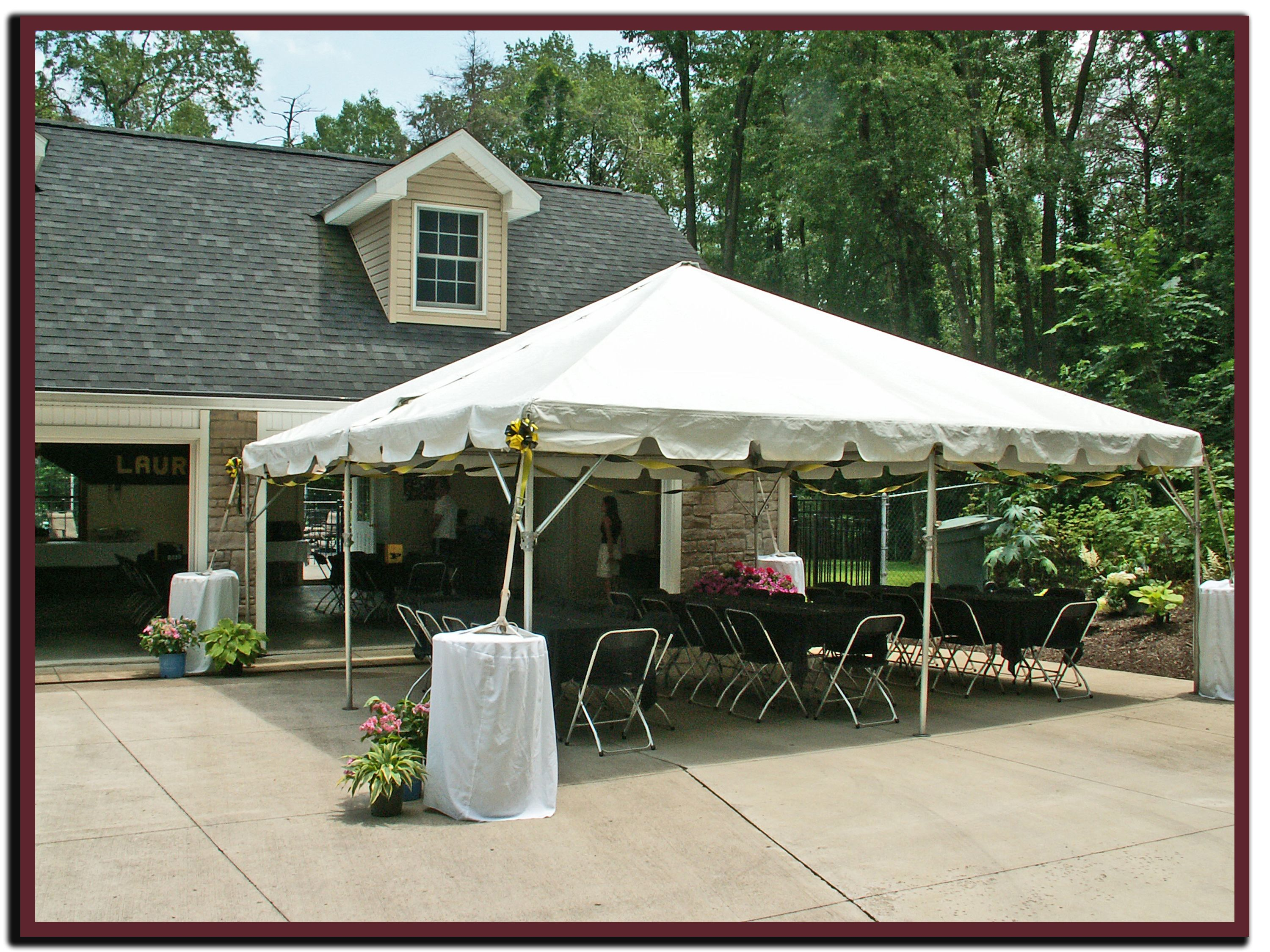 Add some shade to your driveway with a frame tent