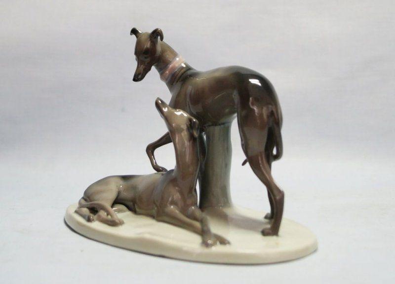 art deco porzellan figure windhund greyhound circa 1920 39 s honden windhond kunst teckels. Black Bedroom Furniture Sets. Home Design Ideas