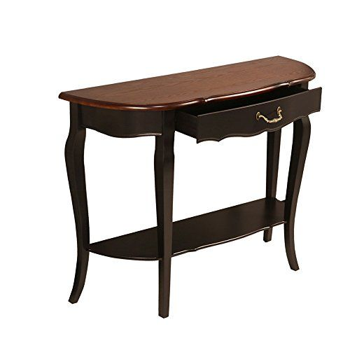 Elegant Console Table Curved Wood Accent Entry Solid Foyer: Waroom Home Hall Console Sofa Table, Solid Wood Curved