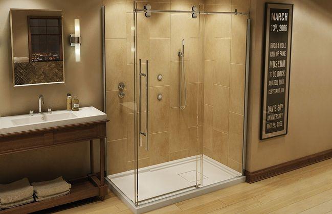 Maax Mechanix M1 Shower Door | Maax | Pinterest | Corner shower ...
