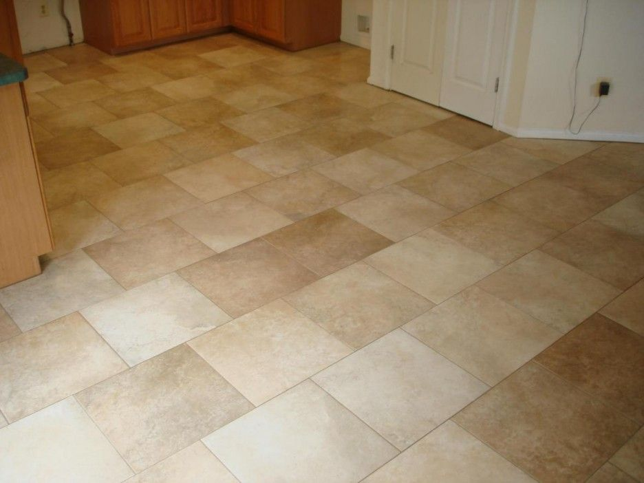 Decorations Inspiring Grouted Vinyl Tile Kitchen Floors Attractive