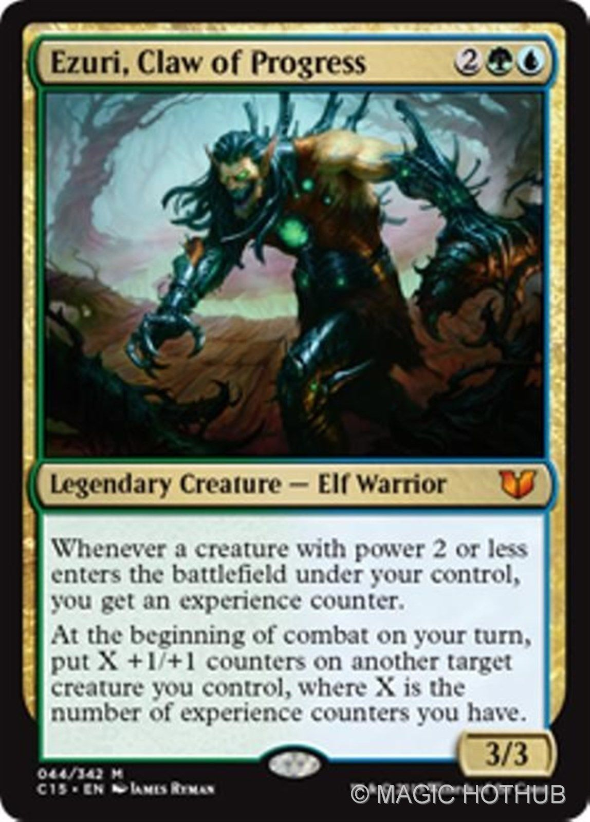 Commander 2015 Ezuri Claw of Progress Magic: the Gathering