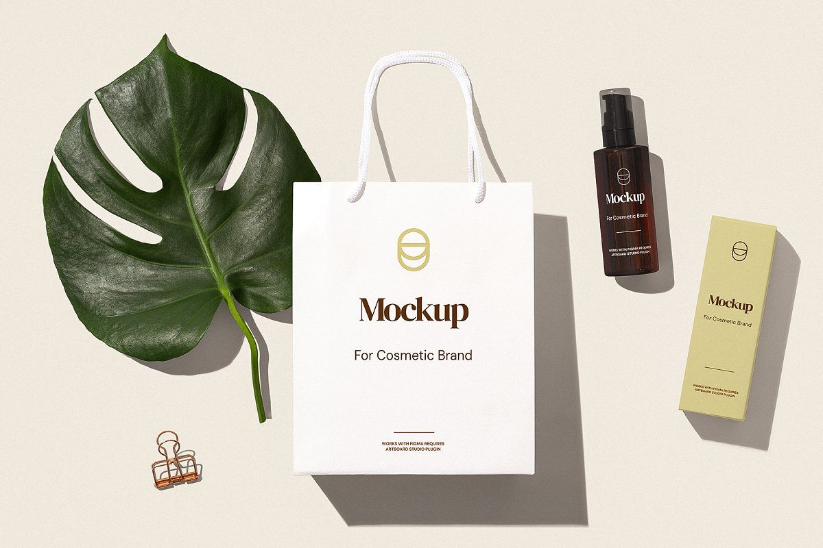 Ad Cosmetic Brand Mockup For Figma By Mockup Zone On Creativemarket First Time In The World We Have Cr Branding Template Creative Branding Branding Mockups