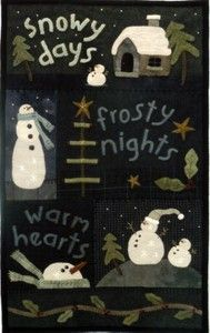 Snowy days from Primitive Gatherings Quilt Shop