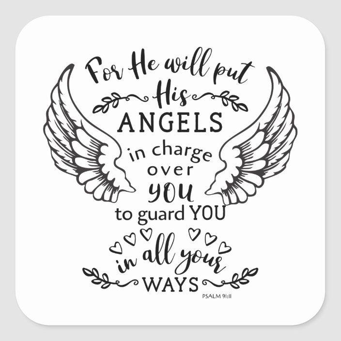 Psalm 91:11 Bible Scripture Verse Angels Guardian