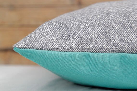 Designer Dog Bed Cover - Grey and White Woven Wool Blend Pet Bed by charliebegood on Etsy https://www.etsy.com/listing/182982315/designer-dog-bed-cover-grey-and-white
