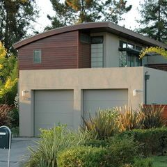 Contemporary Exterior By Ana Williamson Architect Garage Roof Decks And Patios General Roofing Systems Can House Exterior Apartments Exterior Modern Garage