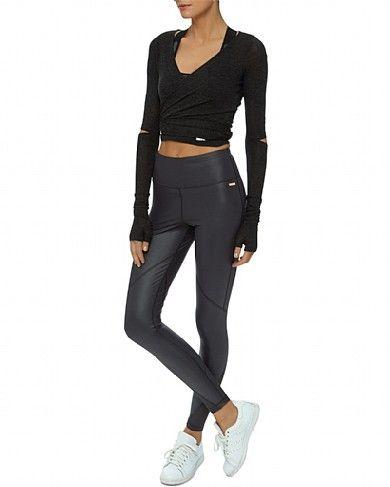 aa46a87cc6602 Frey Wet Look Luxe Leggings - Black | leggings | Sweaty Betty ...