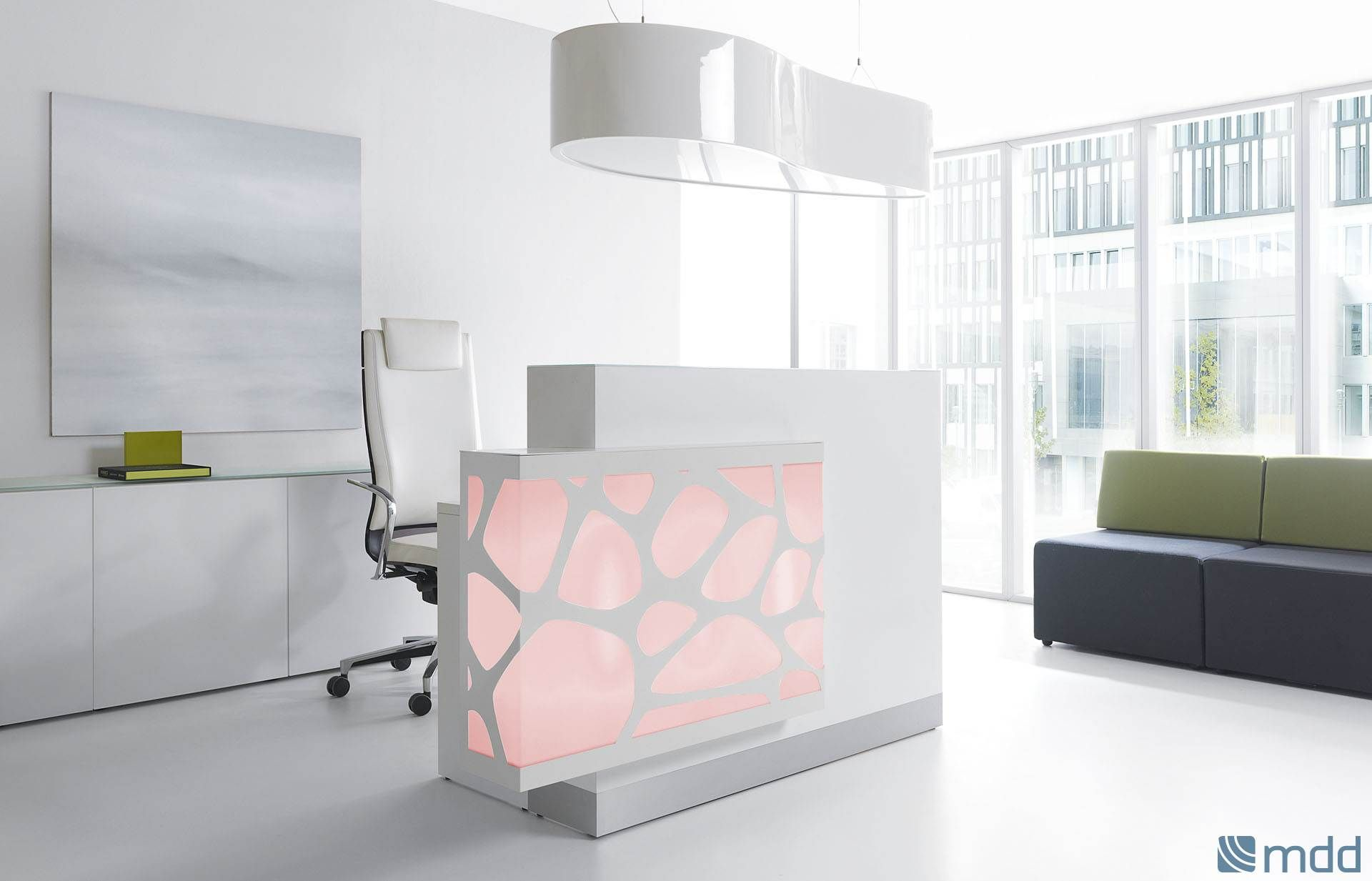 The New Reception Desk By Mdd Takes Its Design Straight