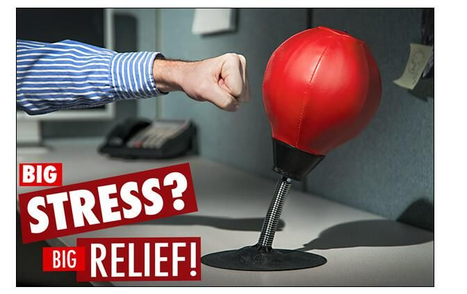Good Stress Reliever Table Wall Pugilism Ball Desktop Punching Bag Vertical  Boxing Ball Vent Decompression Office