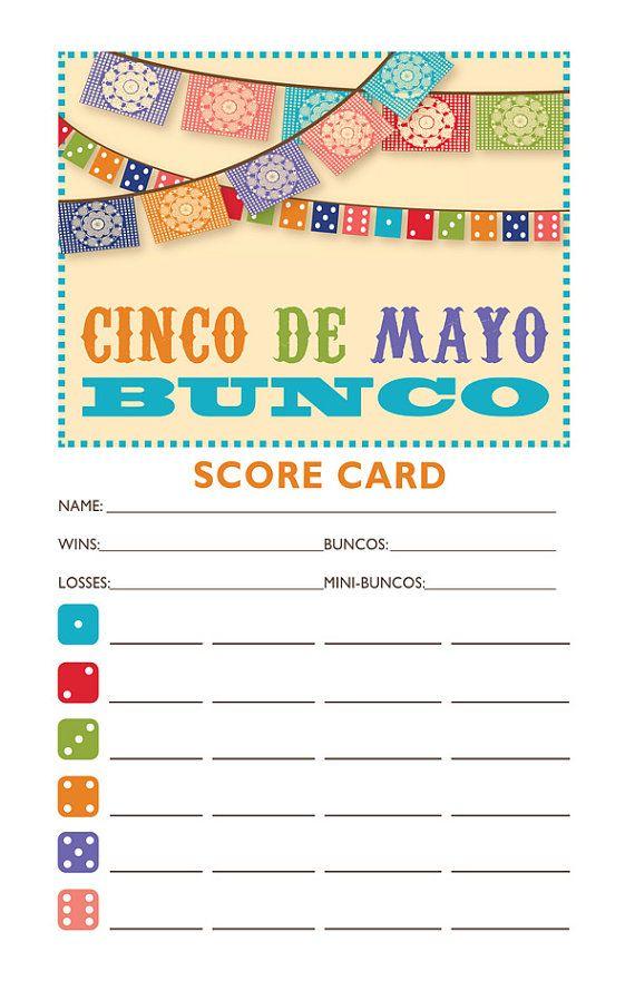 Downloadable Cinco De Mayo Printable Bunco Score And Table Card