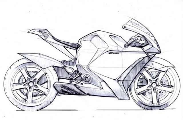 motorbikes drawing Motorcycles