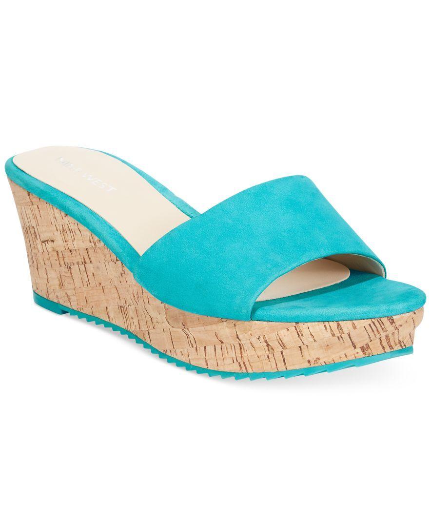 c36f153912d Nine West Confetty Platform Slide Sandals