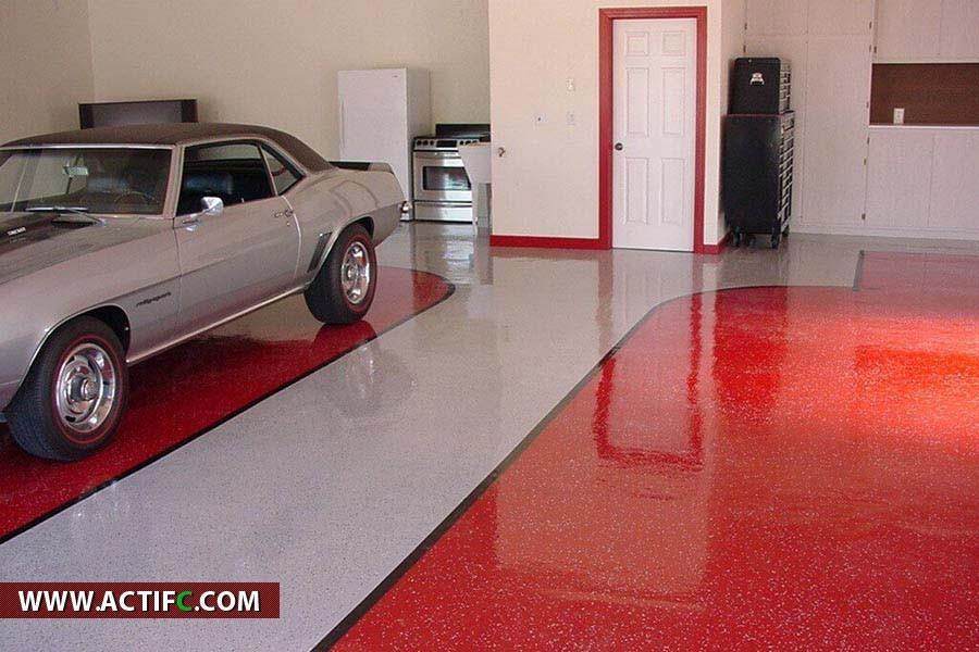 Peinture Sol Beton Garage Peindre Son Pour Tout Douane De En Design D Id En 2020 Interieur De Garage Design Garage Revetement De Plancher Garage
