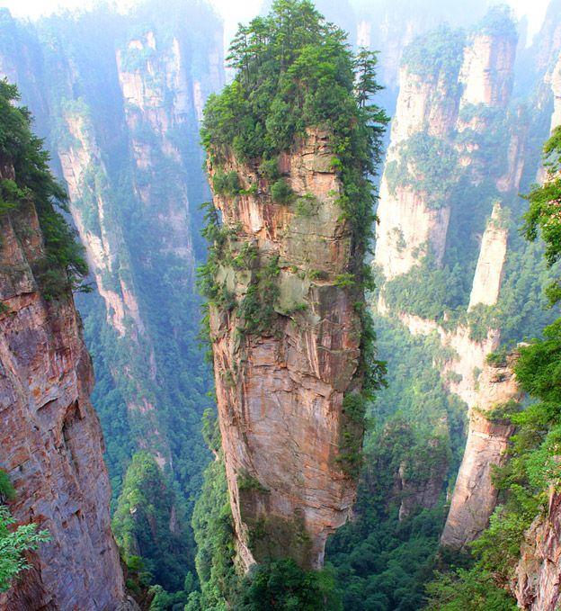 Montanhas Tianzi China Cenario De Avatar Foto Reproducao