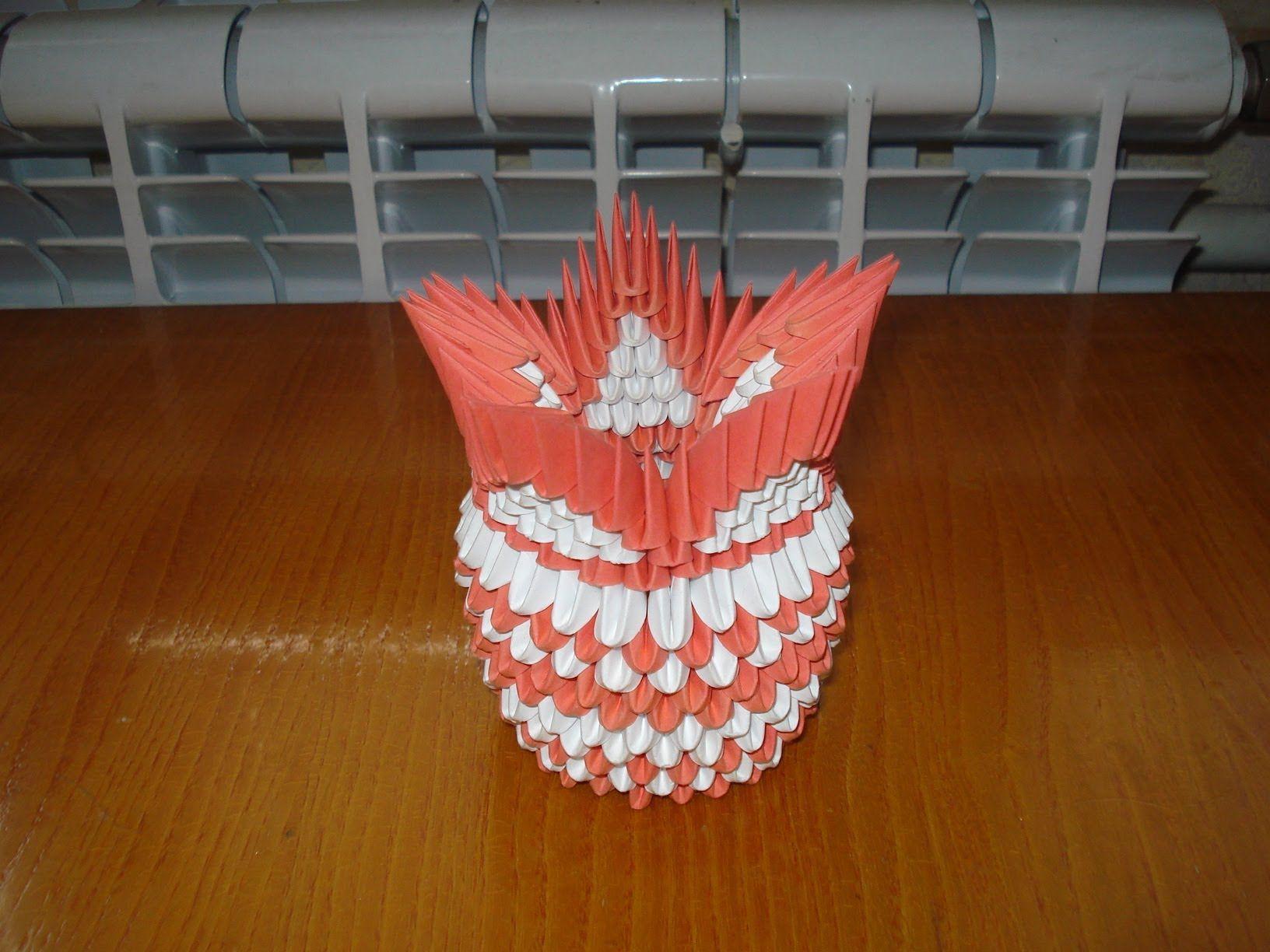 3d Origami Vase Tutorial 4 Pinterest Origami3d Swantutorial Blue39s Chinese Modular Swan Diagram