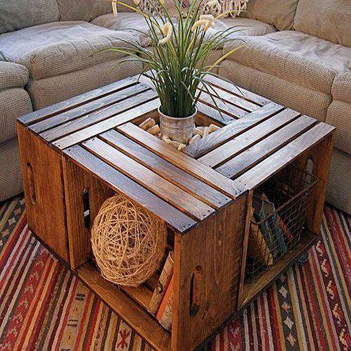 Muebles con cajas de madera recicladas Ideas casa Pinterest