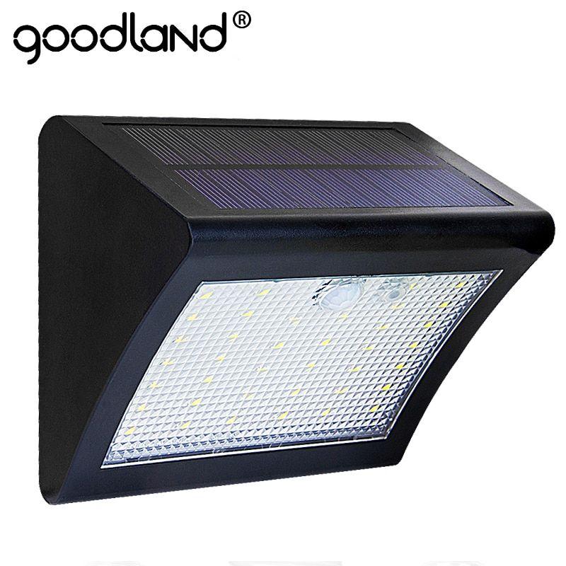 Pir Outdoor Motion Waterproof Sensor Goodland Led Light Solar UpqzMGVS