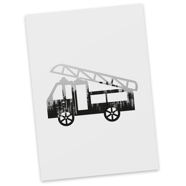Postkarte Feuerwehr aus Karton 300 Gramm  weiß - Das Original von Mr. & Mrs. Panda.  Diese wunderschöne Postkarte aus edlem und hochwertigem 300 Gramm Papier wurde matt glänzend bedruckt und wirkt dadurch sehr edel. Natürlich ist sie auch als Geschenkkarte oder Einladungskarte problemlos zu verwenden. Jede unserer Postkarten wird von uns per hand entworfen, gefertigt, verpackt und verschickt.    Über unser Motiv Feuerwehr  Sie sind immer für uns da, helfen unseren Katzen von den Bäumen…