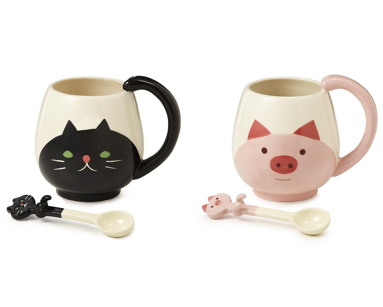 Dainty Animal Mug Spoon Animal Ceramic Design Uncommongoods Animal Mug Cups Cup Designs Spoon Spoon furniture Cute Cup Designs