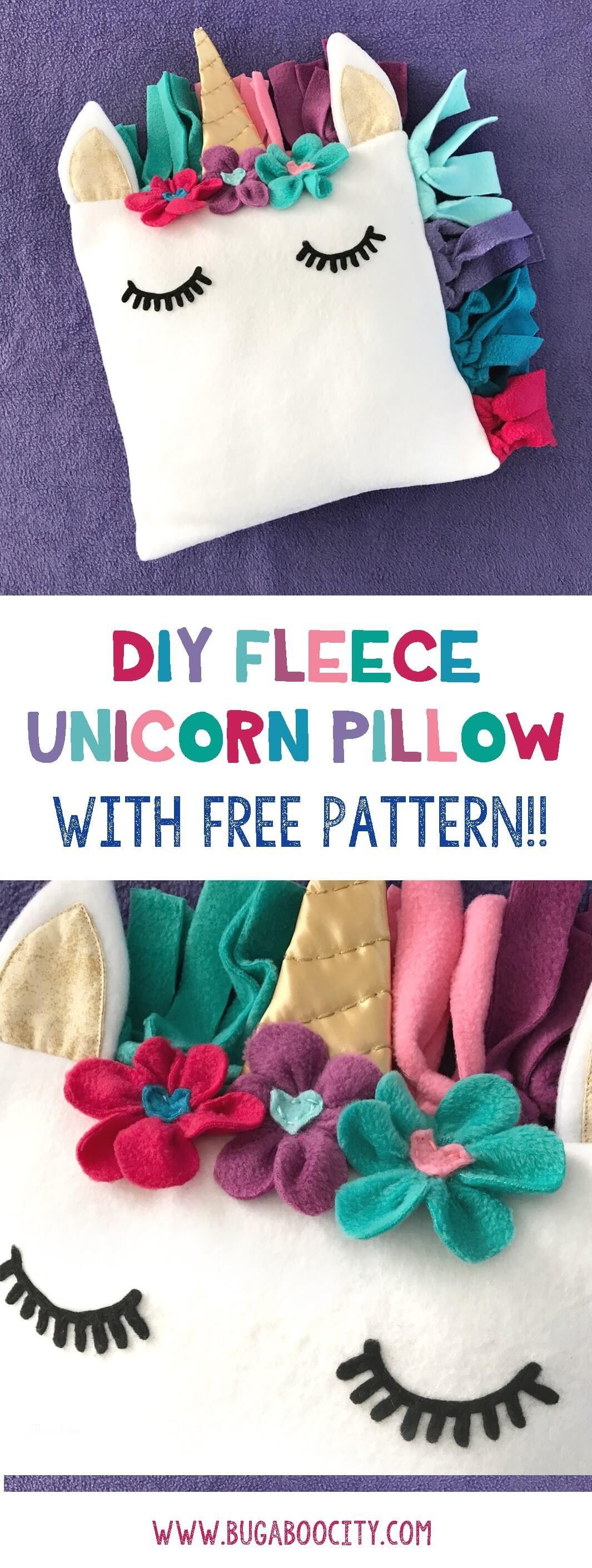 adorable diy unicorn pillow idea   einhorn kissen
