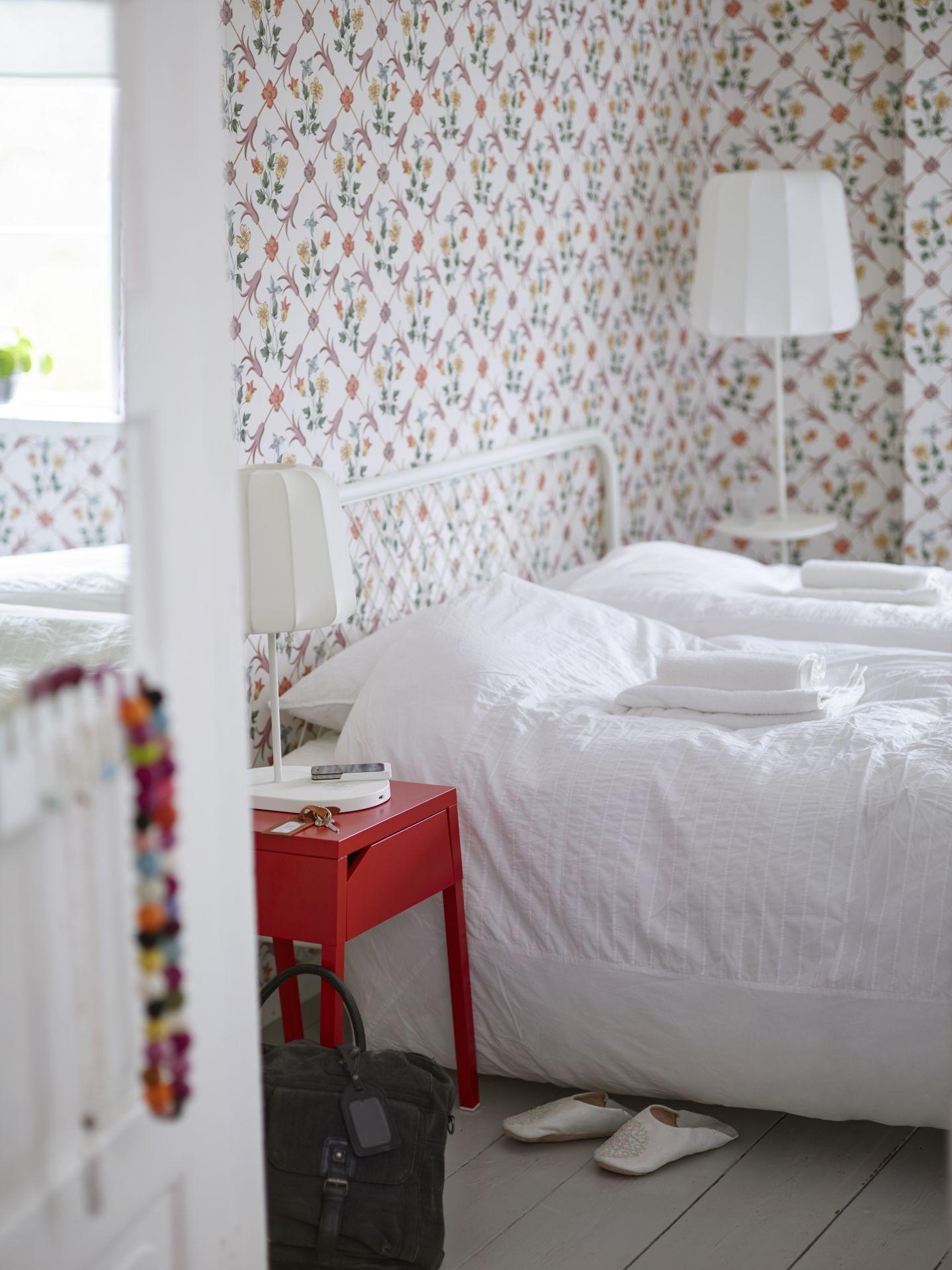 Nesttun Bettgestell Weiss Luroy Ikea Deutschland Ikea Inspiration Einrichtungsideen Schlafzimmer Bettgestell