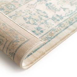 Photo of benuta Teppich Velvet Beige/Blau 120×170 cm – Vintage Teppich im Used-Look benuta