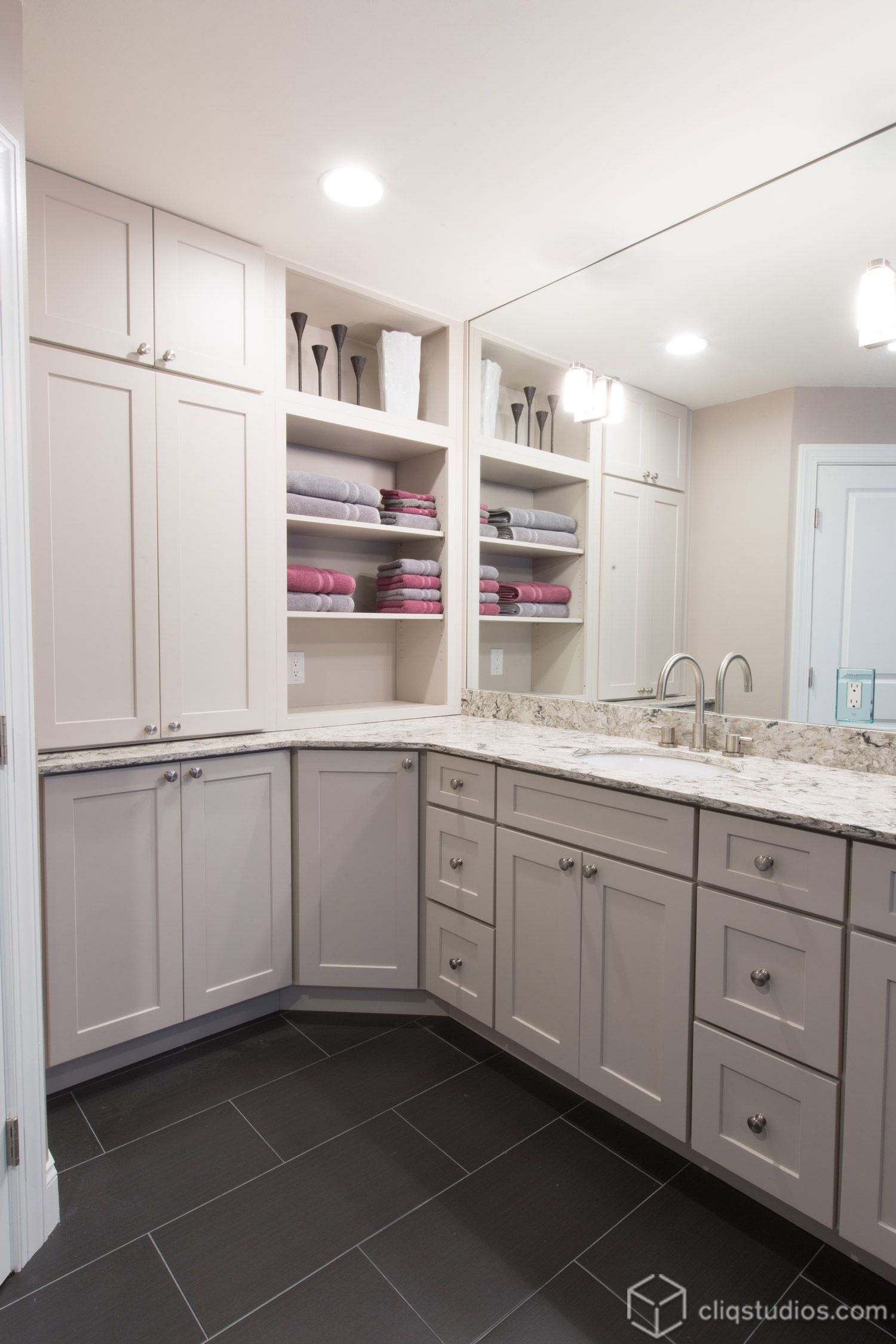 Dayton Painted Linen Mission Bath Vanity Cabinets From Cliqstudios