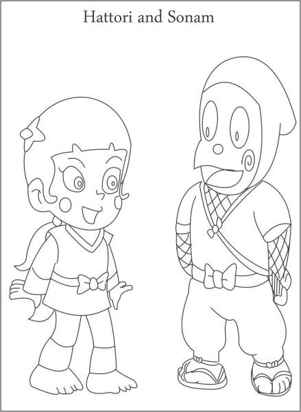 Ninja Kids Hattori And Sonam Ninja Hattori Pinterest Coloring