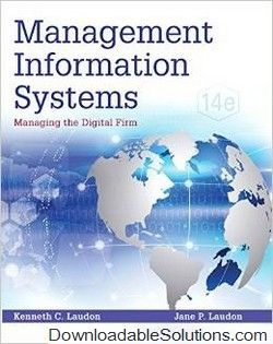 Download solution manual for management information systems download solution manual for management information systems managing the digital firm 14th edition by kenneth laudon jane p laudon access full answers fandeluxe Choice Image