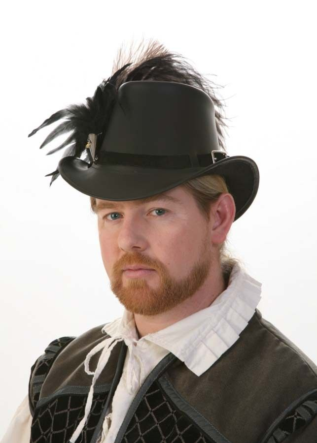 81aab675e70 Handmade Leather Gentleman s Elizabethan Tall Hat By The Blonde Swan.   139.99